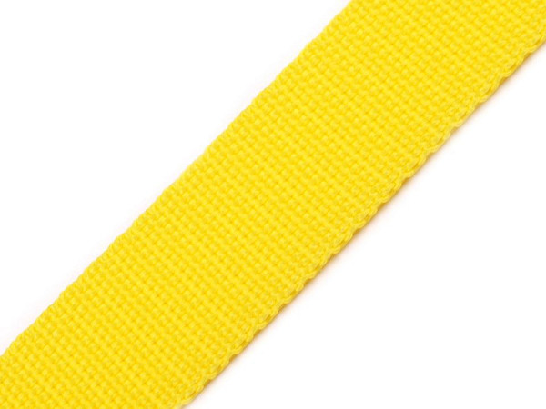 Gurtband 40mm gelb