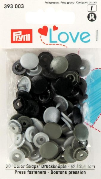 Prym Love Color Snaps Ø 12,4mm grau