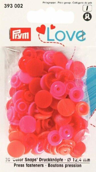 Prym Love Color Snaps Ø 12,4mm rosarot