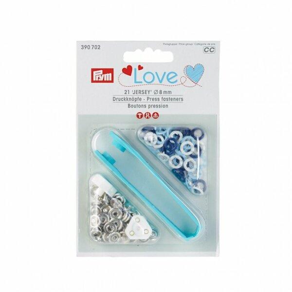 Prym Love Jersey Druckknöpfe Ø 8mm blau