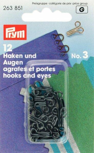 Prym Haken und Augen No. 3