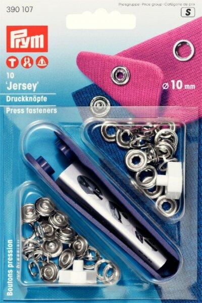 Prym Jerseydruckknöpfe Ø 10mm silber