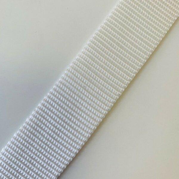 Gurtband 30mm weiß