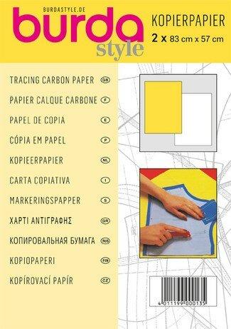 Burda Kopierpapier 2 Bögen à 83x57cm weiß/gelb