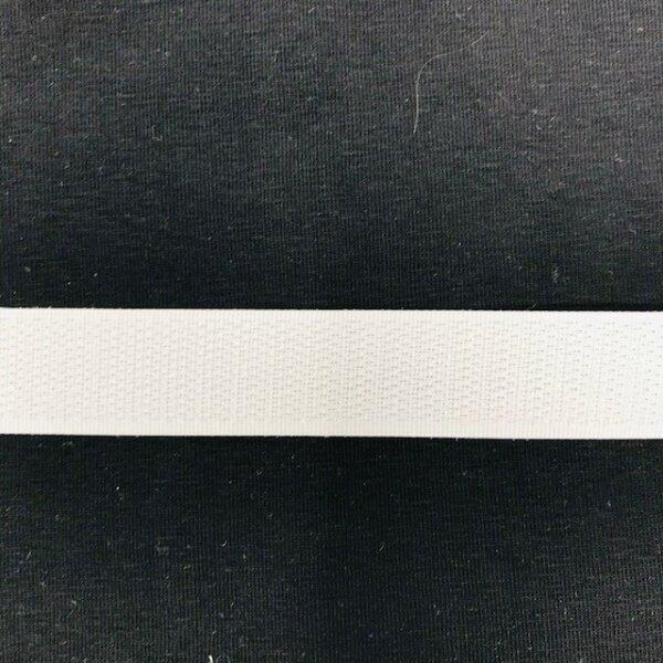Hakenband 20mm selbstklebend weiß