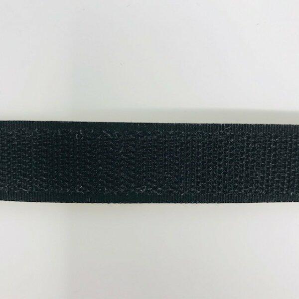 Hakenband 20mm selbstklebend schwarz
