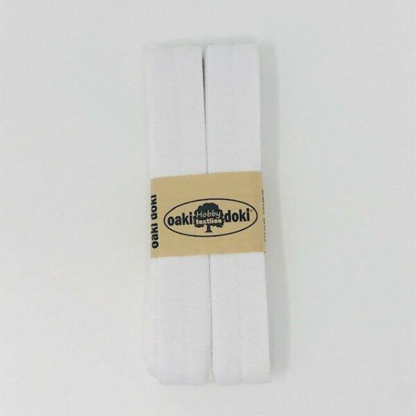 Jersey-Schrägband 40/20mm weiß