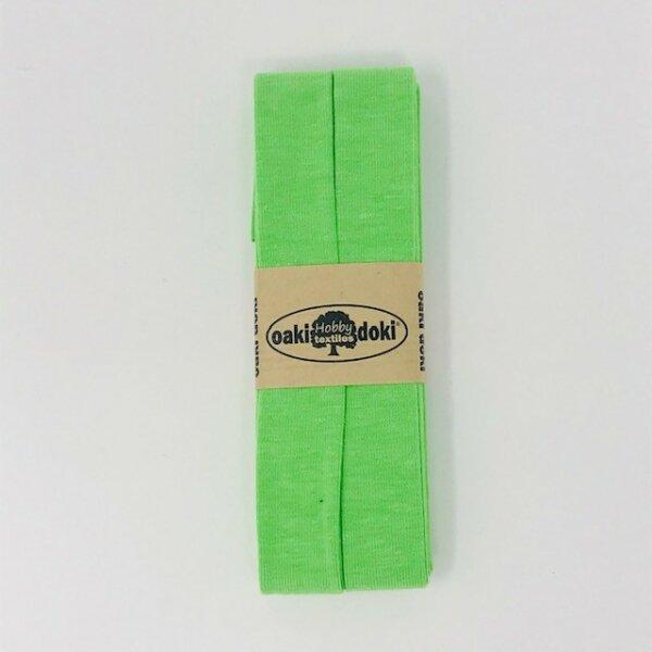 Jersey-Schrägband 40/20mm neon grün