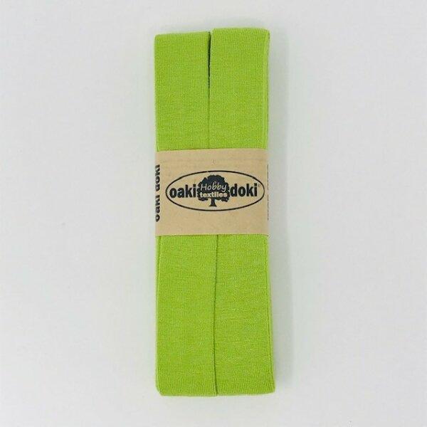 Jersey-Schrägband 40/20mm lime