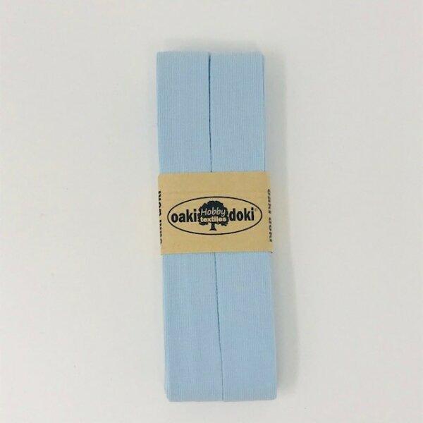 Jersey-Schrägband 40/20mm babyblau