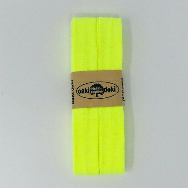 Jersey-Schrägband 40/20mm neon gelb