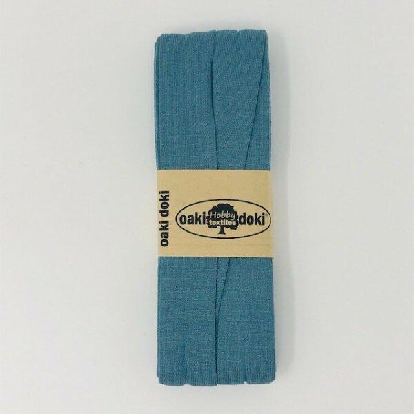 Jersey-Schrägband 40/20mm graublau
