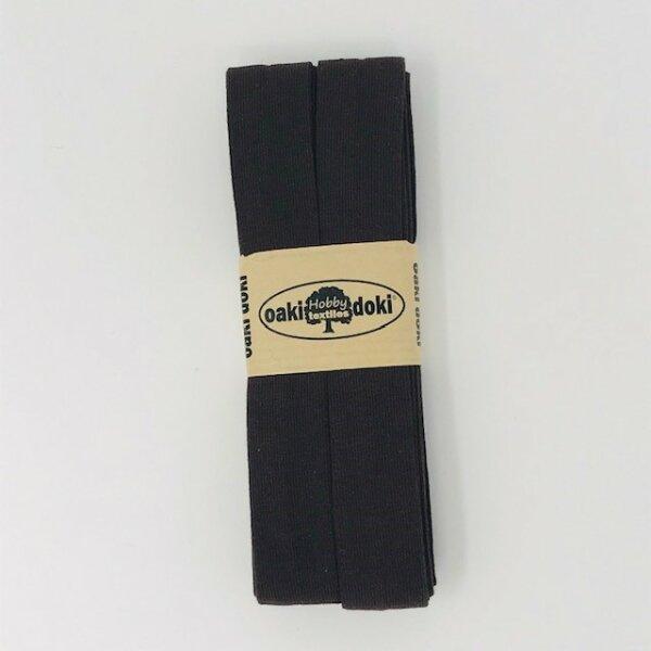 Jersey-Schrägband 40/20mm dunkelbraun