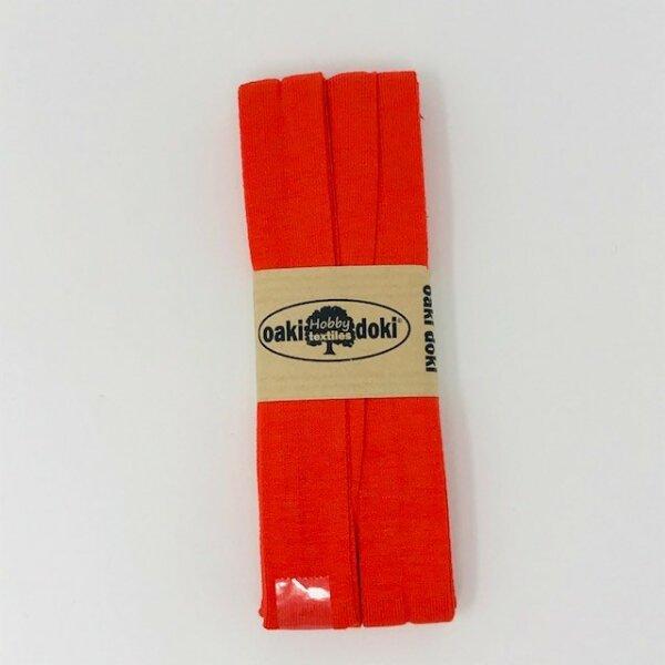 Jersey-Schrägband 40/20mm orangerot
