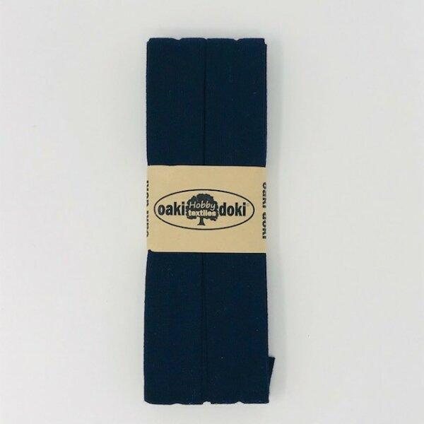 Jersey-Schrägband 40/20mm dunkelblau