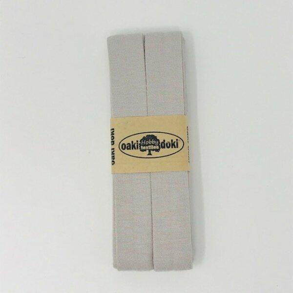 Jersey-Schrägband 40/20mm beigegrau