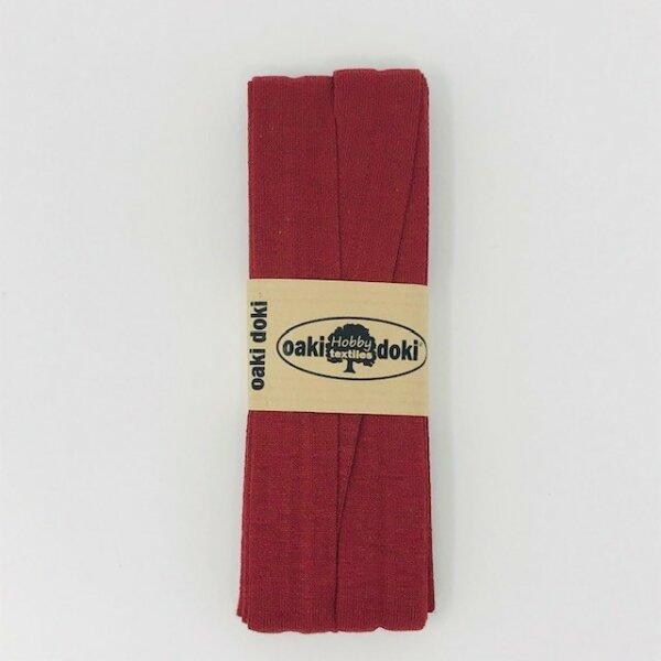 Jersey-Schrägband 40/20mm rostrot