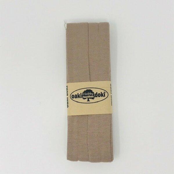 Jersey-Schrägband 40/20mm beige