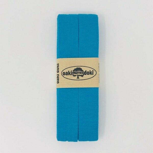 Jersey-Schrägband 40/20mm aqua