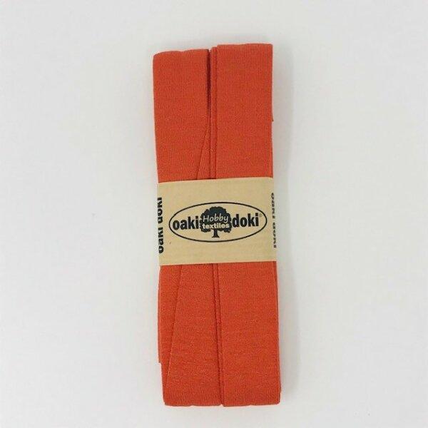 Jersey-Schrägband 40/20mm rostorange