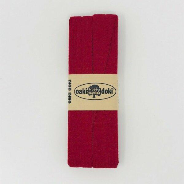 Jersey-Schrägband 40/20mm dunkelrot