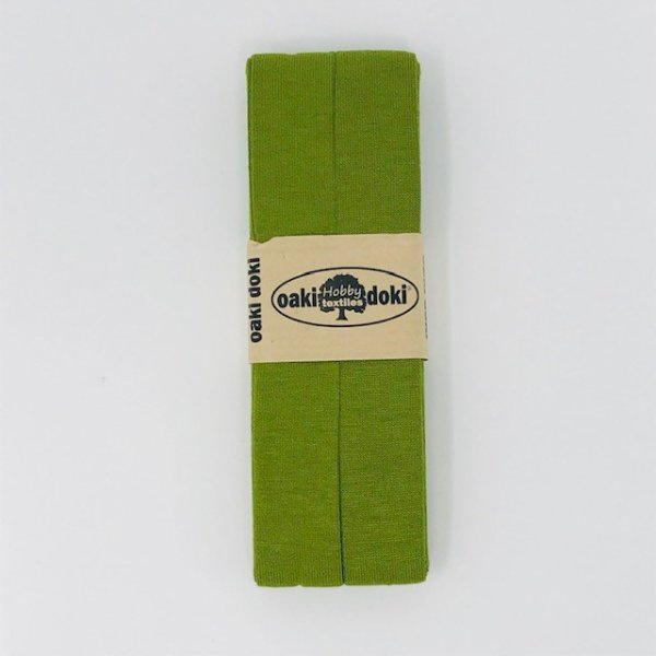 Jersey-Schrägband 40/20mm mittelgrün