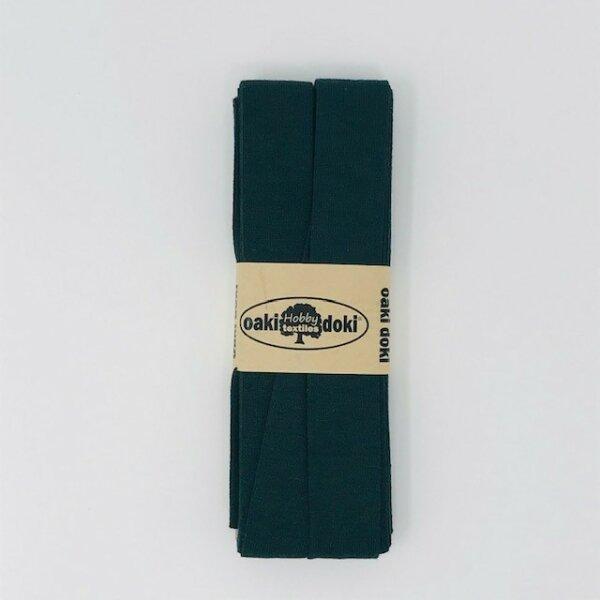 Jersey-Schrägband 40/20mm waldgrün