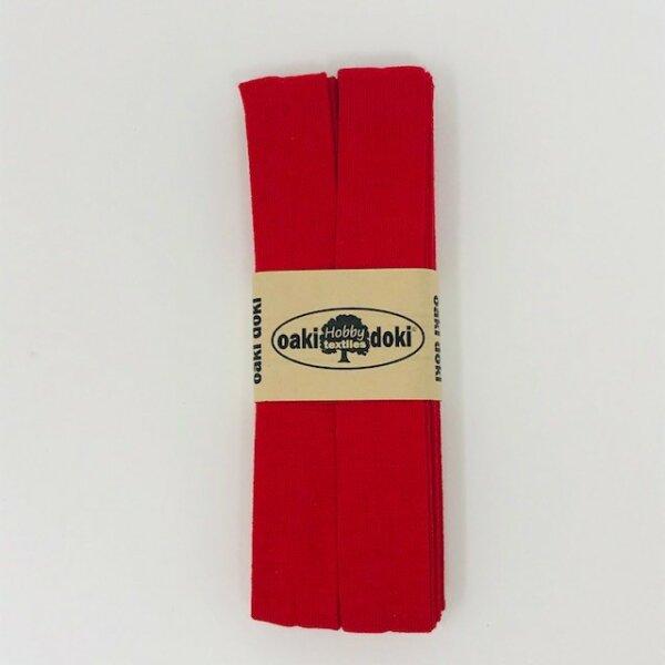 Jersey-Schrägband 40/20mm rot