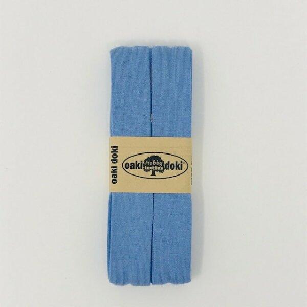 Jersey-Schrägband 40/20mm hellblau