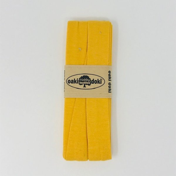 Jersey-Schrägband 40/20mm sonnengelb