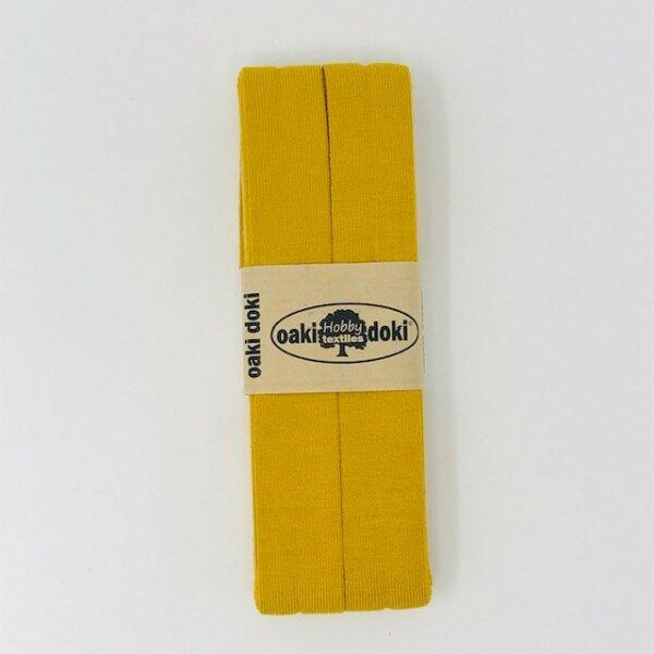 Jersey-Schrägband 40/20mm senfgelb