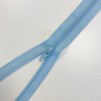 Reißverschluss teilbar 30cm hellblau