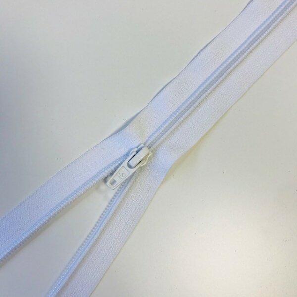 Reißverschluss teilbar 65cm weiß
