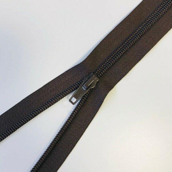 Reißverschluss teilbar 65cm dunkelbraun
