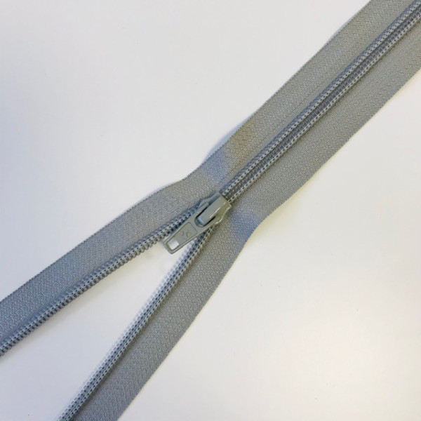 Reißverschluss teilbar 75cm grau