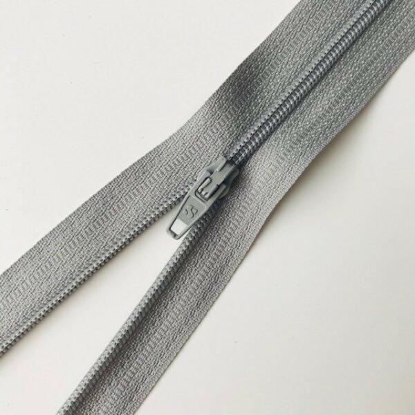 Reißverschluss unteilbar 20cm grau