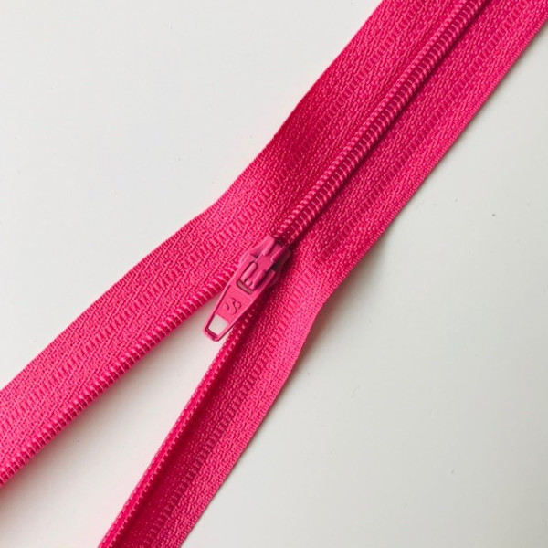 Reißverschluss unteilbar 25cm pink