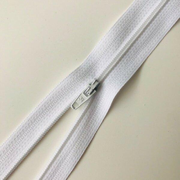 Reißverschluss unteilbar 30cm weiß
