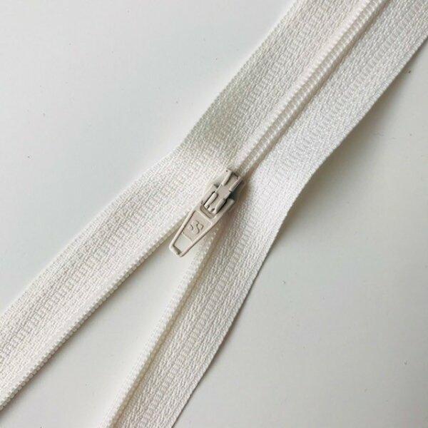 Reißverschluss unteilbar 30cm offwhite