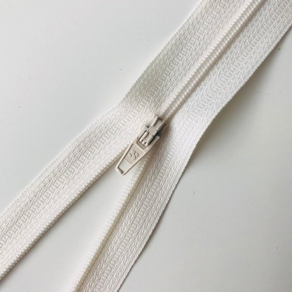 Reißverschluss unteilbar 45cm offwhite
