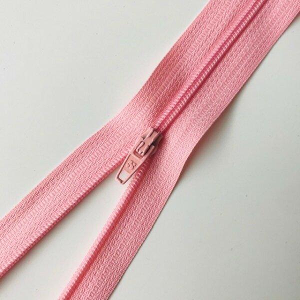Reißverschluss unteilbar 45cm rosa