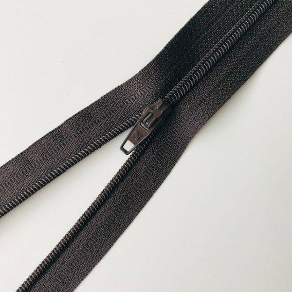 Reißverschluss unteilbar 50cm dunkelbraun