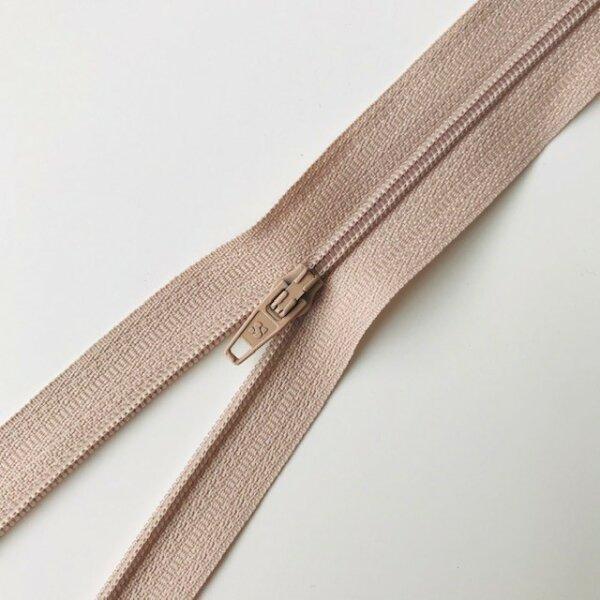 Reißverschluss unteilbar 50cm beige