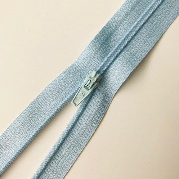 Reißverschluss unteilbar 50cm hellblau