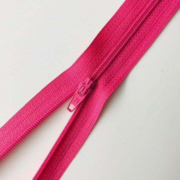 Reißverschluss unteilbar 50cm pink