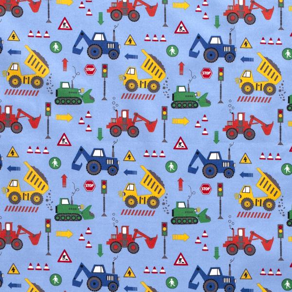 Fahrzeuge Baumwolle hellblau