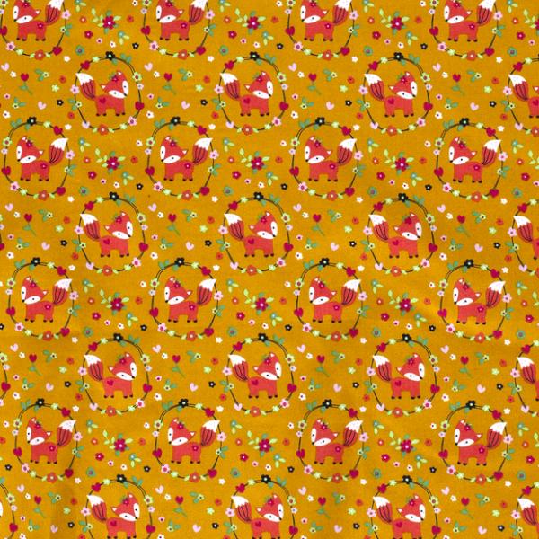 Füchse Baumwolle ocker