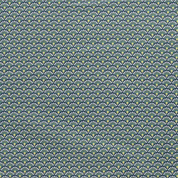 Pfauenfedern abstrakt Baumwolle dunkelgrün