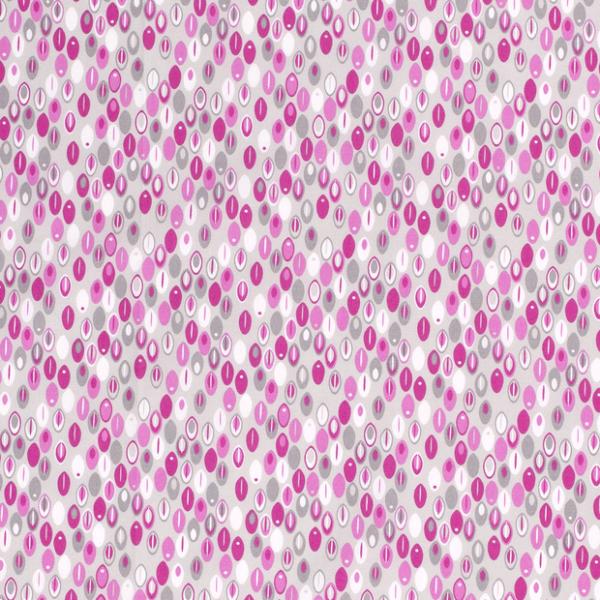 Ovale Baumwolle rosa/grau