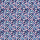 Ovale Baumwolle rosa/dunkelblau